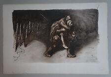 "STEINLEN (1859/1923) Aquatinte WW1 - "" LES 2 AMIS ""  - Signé"