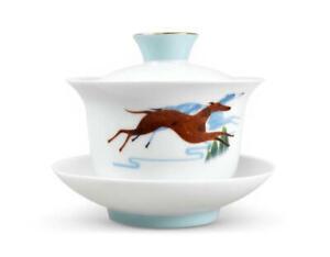 """Dayi Official Dehua White Porcelain """"Wang Shi"""" Gaiwan Tureen Bowlcover Tea Wares"""