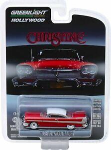 "1958 Plymouth Fury ""Christine"" 1/64 Diecast Model Car By Greenlight 44830C"