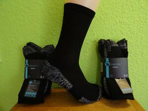 3-6 Paar Outdoor Funktions Trekking Socken ohne Naht Wandersocken schwarz 35-50