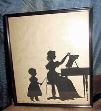antique 1832 cut paper silhouette miss ann napier master john jr dated
