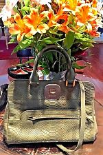NEW Longchamp Gatsby Python Snake Leather TOP HANDLE Satchel SAGE RETAIL: $820-