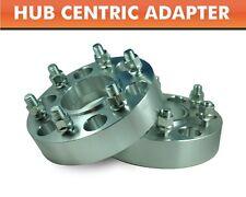 "2 Hub Centric Wheel Adapters 6x5.5 ¦ K1500 Tahoe Silverado Denali Spacers 2"""