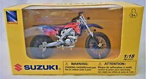 SUZUKI NEWRAY 1:18 Scale Die-Cast SUZUKI RM Z450 Collection Motorcycle Model