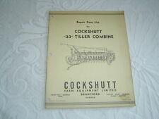 Cockshutt 33 tiller combine repair parts list catalog manual