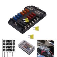 12 Way 12V~32V Auto Car Power Distribution Blade Fuse Holder Box Block Board