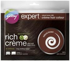 6 X Pack Godrej Expert Herbal Rich Creme Hair Color No Ammonia natural brown