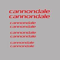 CANNONDALE Cuadro de Bicicleta Adhesivos-DECALS-Transfers: rojo. N.15
