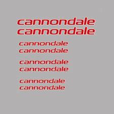 CANNONDALE Bicicletta Telaio Adesivi-Decalcomanie-trasferimenti: Rosso. n.15