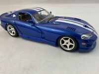 Burago 1:18 Dodge Viper 1996 Blue White Stripes GTS Coupe Fast Ship