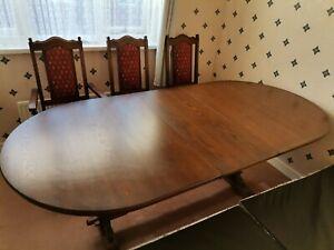 Old Charm Dining Set(table+6chairs)Tudor Brown Original, Wood Bros oak furniture