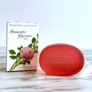 Crabtree Evelyn Scented Rosewater Glycerin Soap 3.5 oz 100G  - NEW IN BOX