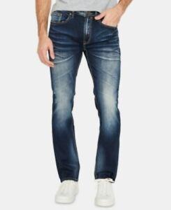 Buffalo Mens Navy Color Block Jeans Size 33W/ 32L  slim ash-x