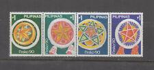 Philippine Stamps 1990 Christmas Lanterns strip of 4 MNH