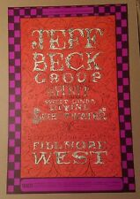 "BILL GRAHAM●FILMORE WEST●18""×21"" POSTER●THE JEFF BECK GROUP●MINT CONDITION●c1968"