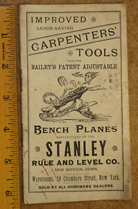 1890s Stanley Rule and Level Co. Carpenters' Tools Pocket Catalog - Original