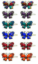 Wholesale Lot of 12 Butterfly Barrettes LPW86250-3-0200-D