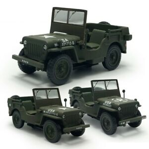 1:43 WW II Jeep Willys 1947 Military USA Model Car Diecast Vehicle Collection