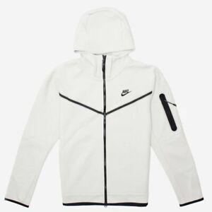 Nike Tech Fleece Windrunner Full Zip Hoodie Light Bone Black CU4489-072 Men's L
