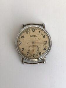 Vintage Buren Grand Prix Watch Swiss Made Man's Mechanical Rare Retro Old