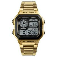 5ATM Water-resistant SKMEI Men's Analog Digital Quartz Wrist Watches Date O6Y0