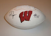 WISCONSIN Ron Dayne signed football w/ 99H JSA COA AUTO Autographed Badgers