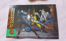 94 Fleer Ultra Wolverine vs Hellfire Club Greatest Battles X-Men Trading Card HS