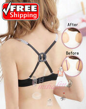 Lot 3 Colors Anti-slip Clipper Bra Strap Solution Push-up Effect