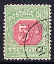 Victoria cancelled to order five shilling postage due stamp. SG no. D20.