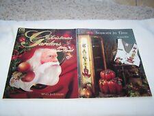 Lot of 2 TOLE PAINTING Pattern BOOKS Christmas Seasonal FOLK ART Crafts