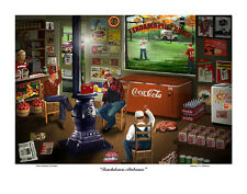 ALABAMA CRIMSON TIDE FOOTBALL COUNTRY STORE S/N PRINT