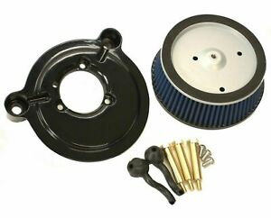 New Black Sucker High Flow Stage 1 Air Cleaner Filter Intake Harley Big Twin Cam