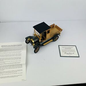 Franklin Mint 1913 Ford Pick Up Truck 1/16 Scale Die Cast with Box and Papers