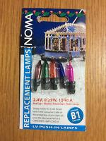 5 Noma B1 Spare Christmas Fairy Light Bulbs, Multi-Colour Lamps 2.4v 0.29w 120ma