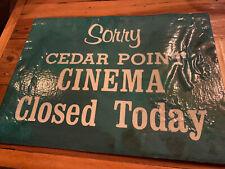 Cedar Point Amusement Theme Park Ticket Booth sign IMAX Goodtime Theater Cinema