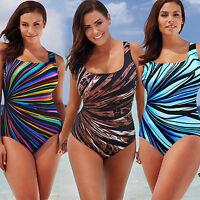 Plus Size Women One Piece Monokini Padded Bikini Swimwear Beach Swimsuit Bathing