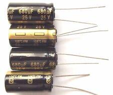 680uf 25v 105c  LOW ESR Size 20mmx10mm Panasonic EEUFM1E681 x4pcs