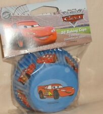 Cars  Pixar,Cupcake Papers,Wilton,50 ct.Paper, Red/Blue.Lightening McQueen