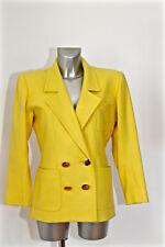 luxueuse veste tailleur laine jaune YVES SAINT LAURENT VARIATION taille 42 i46