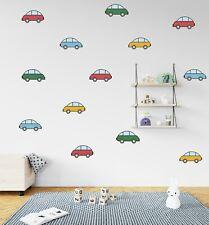 Cartoon Cars Boys Room Décor Nursery Style Wall Decal Pattern Removable Decal