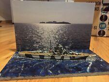 Diorama Tirpitz Schlachtschiff Meer Wasser Boot Kriegsschiff Revell 1/1200 wk2