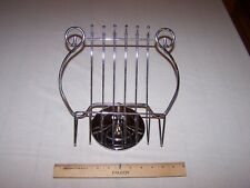Vintage Chrome Table Top Lyre Music / Book / Cook Book Holder Mid Century