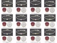 EQUILIBRIUM JEWELLERY - MONTH BIRTHSTONE BANGLE/BRACELETS SILVER PLATED
