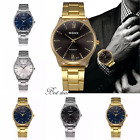 Mens Bracelet Watches Gents Analogue Fashon Uk Casual S Steel Gift Wrist Watch