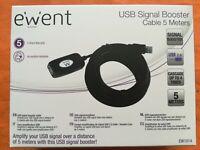EWENT CAVO PROLUNGA USB AMPLIFICATORE SIGNAL BOOSTER 5 metri USB 2 - EW1014