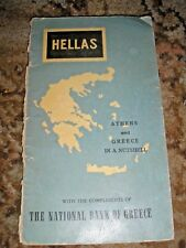 HELLAS ATHENS AND GREECE IN A NUTSHELL 1950'S? GUIDE BOOKLET 40 PAGES