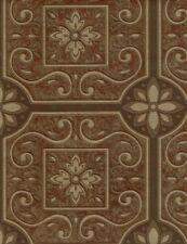 Brewster Parkview Brown Bronze textured paintable wallpaper FD58718 NEW 2 Rolls!