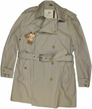 GUCCI MEN'S KHAKI TRENCH COAT-52/42 US-MADE IN ITALY