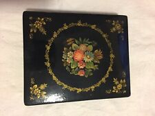 Russian lacquer box vintage 1971 signed