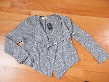 NWT Hollister Drapey Knit Cardigan Sweater Heather Blue Medium